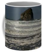 Close Haystack Rock Coffee Mug