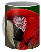 Close Up Of A Gorgeous  Green Winged Macaw Parrot. Coffee Mug