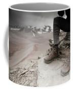 Close Up Of A Mountaineers Windblown Coffee Mug