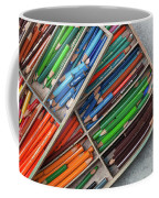 Close-up Of Color Pencils, Ishoj Coffee Mug