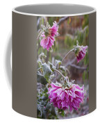 Close-up Of Flowers Covered By Frost Coffee Mug