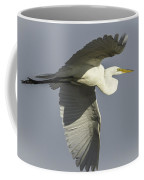 Close Up Of Great Egret In Flight Coffee Mug