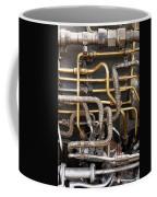 Close-up Of Tangled Pipes Coffee Mug