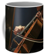 Close Up Of The Cellist's Hands Coffee Mug
