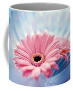 Close Up Of Two Pink Gerbera Daisies Coffee Mug
