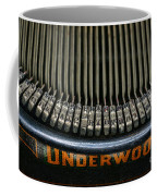 Close Up Of Vintage Typewriter Keys. Coffee Mug