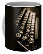 Close Up Vintage Typewriter Coffee Mug by Edward Fielding