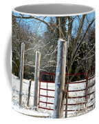 Closed Gate In Winter  Coffee Mug