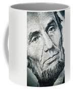 Closeup Of A Five Dollar Bill Coffee Mug