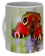 Closeup Of An European Peacock Butterfly  Coffee Mug