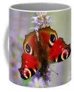Closeup Of An European Peacock  Coffee Mug