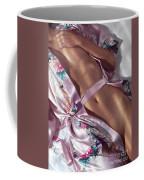 Closeup Of Beautiful Nude Asian Woman Body In Pink Kimono Coffee Mug