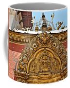 Closeup Of Carving Over Door In Bhaktapur Durbar Square In Bhaktapur-nepal Coffee Mug