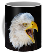 Closeup Portrait Of A Screaming American Bald Eagle Coffee Mug