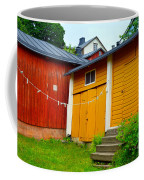 Clothesline In Porvoo In Finland Coffee Mug