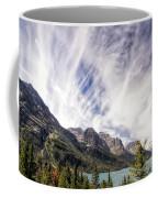 Cloud Formation At Saint Mary Lake Coffee Mug