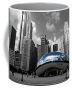 Cloud Gate B-w Chicago Coffee Mug