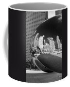 Cloud Gate Bean Black And White Coffee Mug