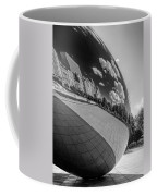 Cloud Gate Teardrop Black And White Coffee Mug