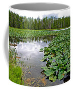 Clouds Among The Lily Pads In Swan Lake In Grand Teton National Park-wyoming  Coffee Mug