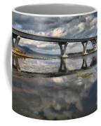Clouds And Reflections Over Lake Champlain Coffee Mug