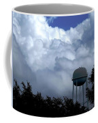 Clouds Around The Water Tower Coffee Mug
