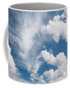 White Cirrus And Cumulus Clouds Formation Mix Coffee Mug
