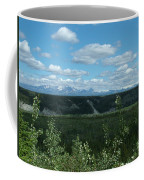 Clouds Mountains And Trees Coffee Mug
