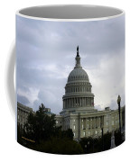 Clouds Of Political Uncertainty Over Capitol Hill Coffee Mug