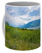 Clouds Over Jackson Lake In Grand Teton National Park-wyoming Coffee Mug