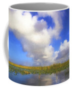 Clouds Over The Grasses Coffee Mug