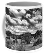 Cloudy Countryside Collage - Black And White Coffee Mug