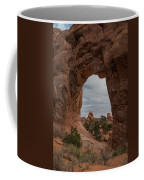 Cloudy Day At Pine Tree Arch Coffee Mug