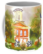 Cloudy Day At The Courthouse Coffee Mug