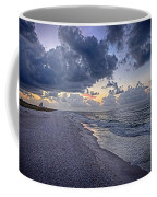 Cloudy Sunrise Over Orange Beach Coffee Mug