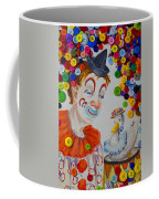 Clown And Duck With Buttons Coffee Mug