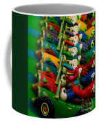 Clowns In Cars Amusement Park Game Coffee Mug by Amy Cicconi