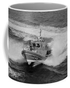 Coast Gaurd In Action In Black And White Coffee Mug