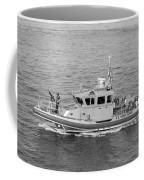 Coast Guard On Patrol In Black And White Coffee Mug