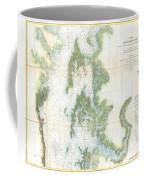 Coast Survey Chart Or Map Of The Chesapeake Bay Coffee Mug