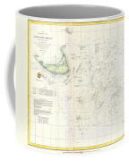 Coast Survey Nautical Chart Or Map Of Nantucket Massachusetts Coffee Mug