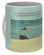 Coastal Beach - E.e. Cummings Sea Quote Coffee Mug