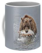 Coastal Brown Bear With Salmon IIi Coffee Mug