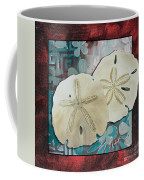 Coastal Decorative Shell Art Original Painting Sand Dollars Asian Influence I By Megan Duncanson Coffee Mug
