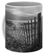 Coastal Dunes In Black And White Coffee Mug