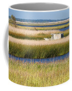 Coastal Marshlands With Old Fishing Boat Coffee Mug