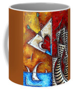 Coastal Martini Cityscape Contemporary Art Original Painting Heart Of A Martini By Madart Coffee Mug