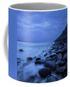 Coastal Rocks In Water At Unstad Beach Coffee Mug