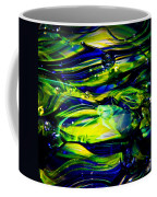Cobalt Blue And Yellow Glass Macro Abstact Coffee Mug by David Patterson