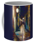 Cobblestone Nighttime Street Coffee Mug